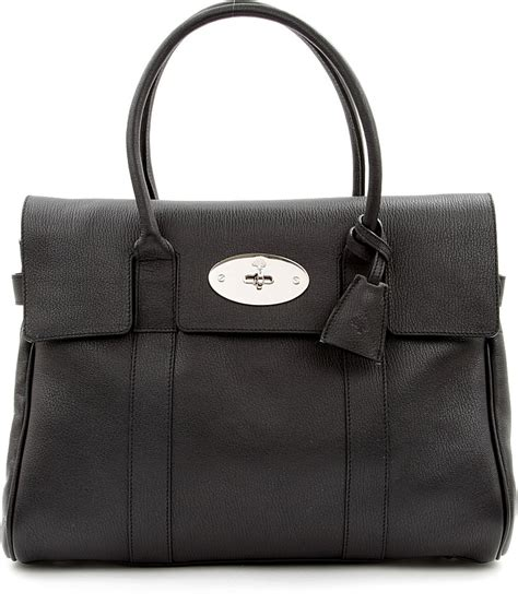 Mulberry Bayswater Handbag by Mulberry Bayswater Grainyprint Leather Handbag In Black