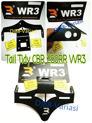 Dudukan Plat Nomer Belakang Wr3 Cbr 250rr dj88 variasi toko aksesories terlengkap dan terpercaya se indonesia