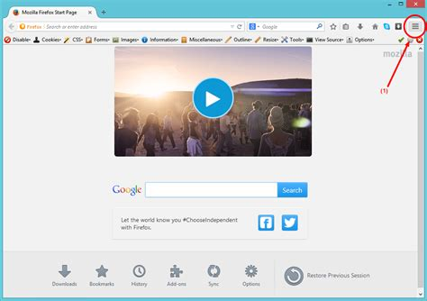 set your homepage on firefox browser set any page as