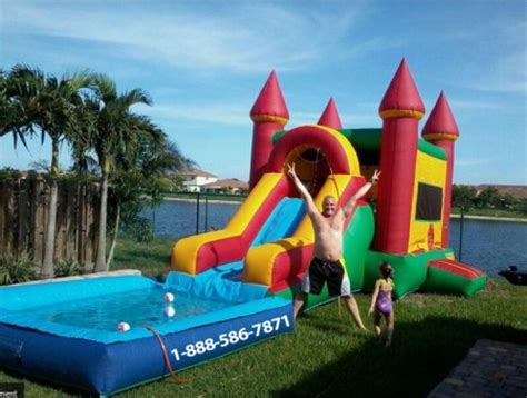 water slide bounce house for rent bounce house water slide rental broward county fl