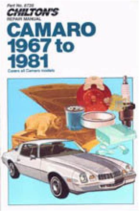 1967 1981 chevrolet camaro repair manual by chilton used chilton chevrolet camaro 1967 1981 repair manual