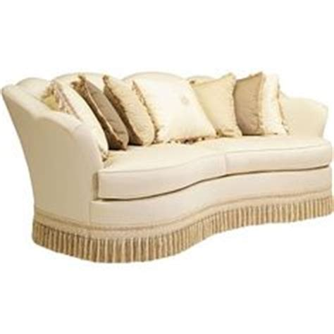fringe sofa curved sofa fringe skirt and seat cushions on pinterest