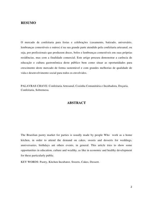 Artigo - Confeitaria Artesanal