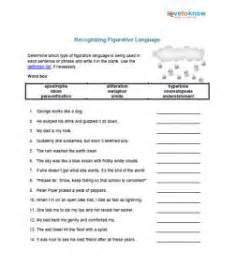 Free Figurative Language Worksheets by Worksheet Figurative Language Worksheet Caytailoc Free