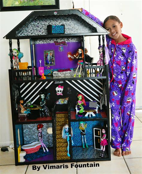 how to make a monster high doll house monster high house monster high pinterest