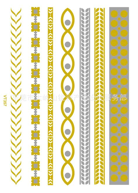 Stickers Gold Silver Temporary waterproof painting stickers metal gold silver temporary flash