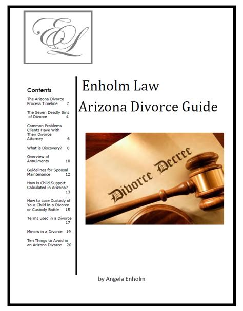 Divorce Guide free arizona divorce guide