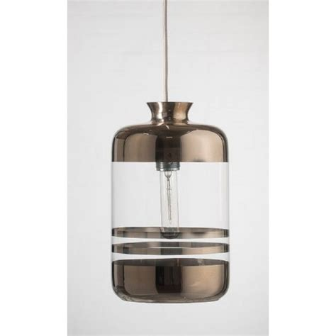 glass bottle ceiling pendant light with platinum metallic
