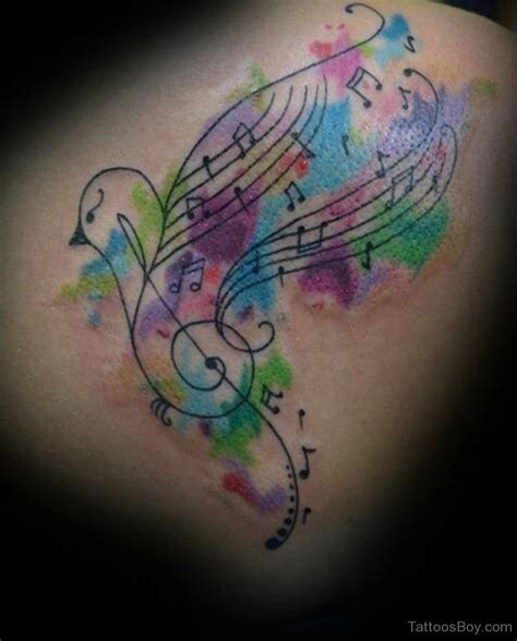 music heart tattoo tattoos color pictures to pin on tattooskid