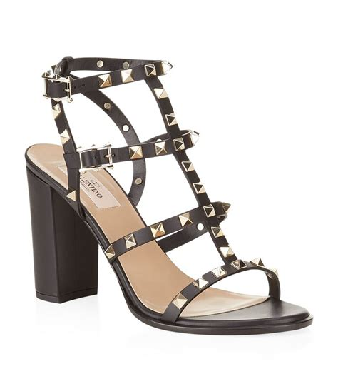 sandal valentino valentino rockstud 90 leather sandal in black lyst
