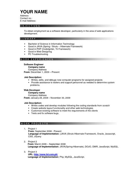 resume exles templates free sle effective resume