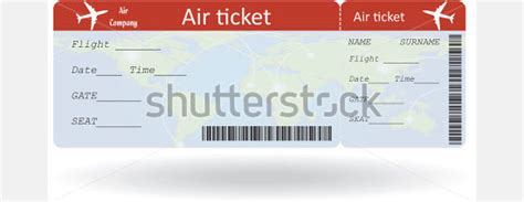 free printable plane ticket template printable template 2017