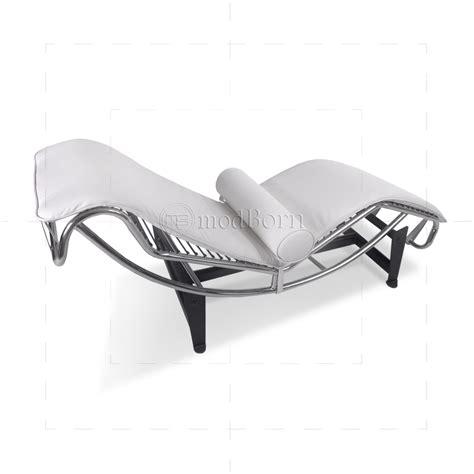 white leather chaise longue le corbusier style lc4 chaise longue white leather