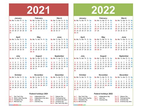 calendar printable word