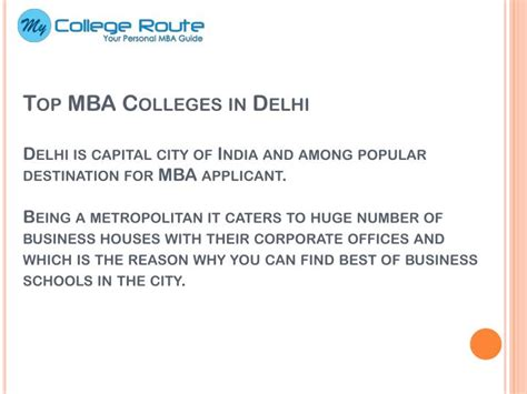 Best B Schools In Delhi For Mba by Ppt Top Mba Colleges In Delhi Ncr Powerpoint