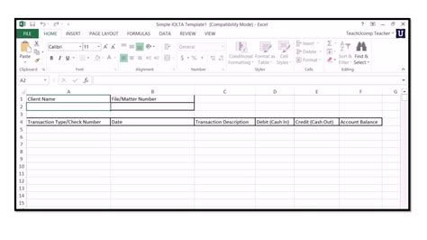 client ledger template how to use iolta management for lawyers in microsoft excel