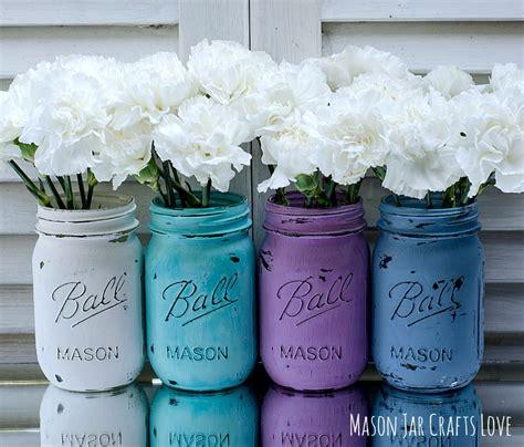 painted mason jars for spring mason jar crafts love