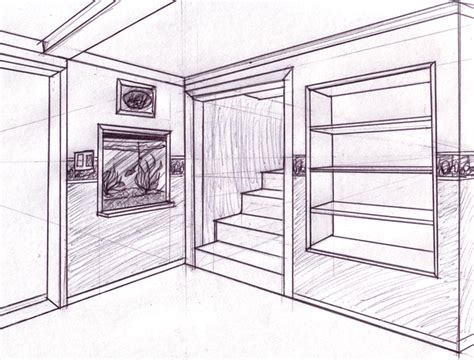 two point perspective room two pt perspective livingroom by raventailblacktalon on deviantart