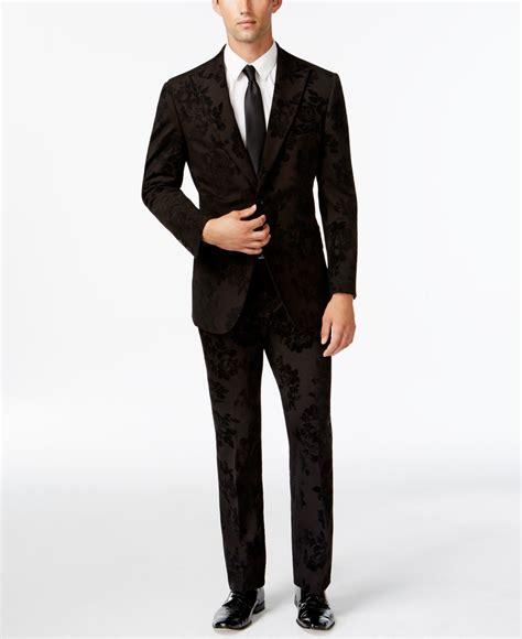New Kemeja Slim Fit Andreas Pdk New laundry slim fit black velvet floral suit in black for lyst