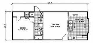 1 Bedroom Mobile Home Floor Plans by Singlewide Manufactured Honmesfloor Plans Floor Plan