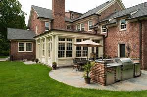 Brick Colonial House Classic Scarsdale Brick Colonial