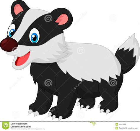 cartoon animal badger stock vector image of cartoon