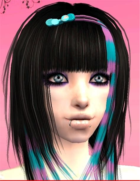 sims 2 emo hair mod the sims xm sims 87a 3 scene recolors coontails