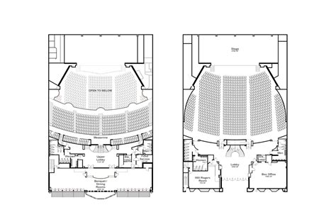 theatre floor plans vanir bim services planning design constructability
