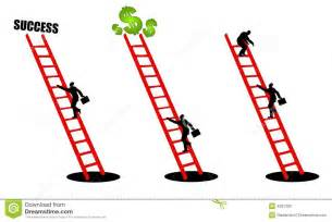 climbing the ladder of success 2 stock photography image