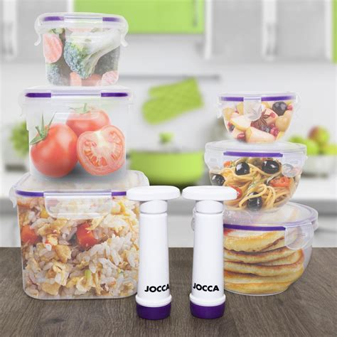 Set Of 3 Food Container jocca set of 3 storage containers with vacuum food