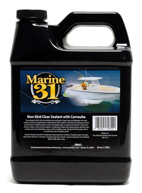 best boat wax sealant marine 31 non skid clear sealant with carnauba