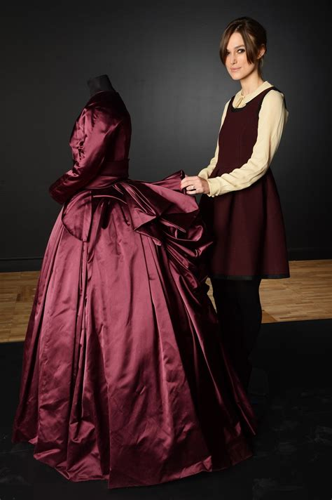 Dress Karenia 3 photos keira knightley with karenina dress at the v a s costume exhibition