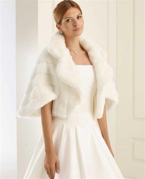 hochzeitskleid cape braut cape in pelzoptik ohne satin masche samyra fashion