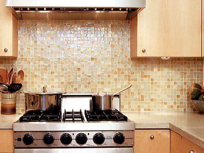 recycled glass backsplash