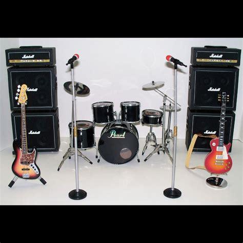 guitar drum musical 1 6 scale rock band instruments guitars drum kit