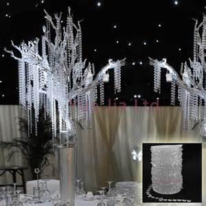 diamantene hochzeit dekoration 99 ft garland strand acrylic bead wedding