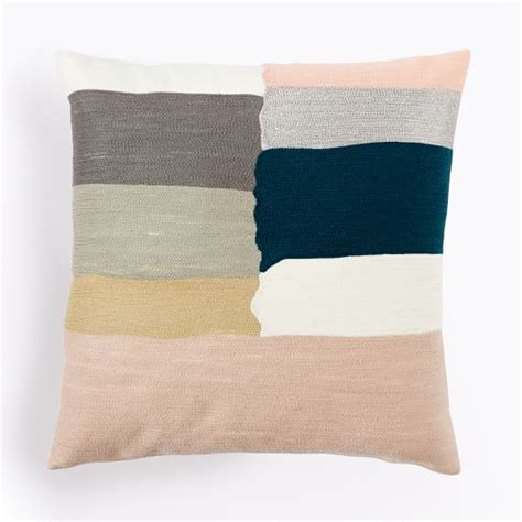 Crewel Pillow Covers by Crewel Mixed Stripes Pillow Cover Rosette West Elm