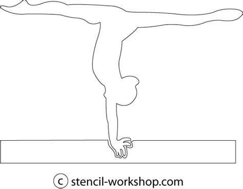printable gymnastics stencils designing templates jaycee s creations