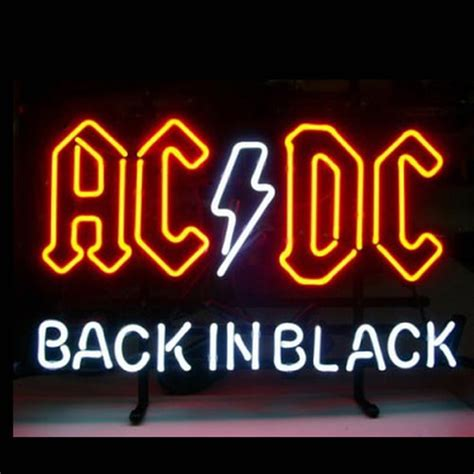 back in black ac dc back in black neon sign neonsignsus