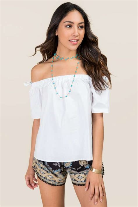 White Tassel Top Cl 1375 s tops tank tops blouses casual tops s