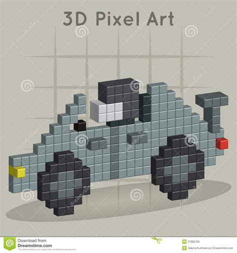 pixel race race car 3d pixel art stock vector image of isolated