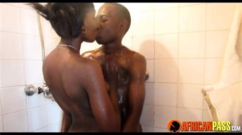 Real Amateur African Couple Hot Shower Sex Eporner