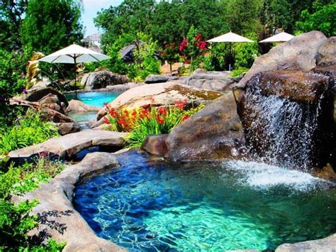 pool waterfalls swimming pool beautiful pool waterfall with decorative