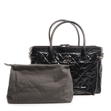 Chanel Portobello Large chanel glazed calfskin new portobello large tote black 88887