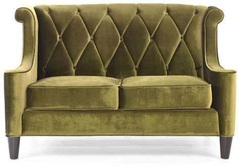 modern green velvet sofa a modern green velvet loveseat