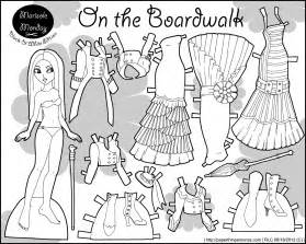 paper doll coloring pages free brownie paper doll coloring pages