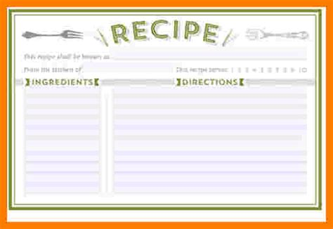 editable recipe card templates  microsoft word ledger review