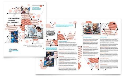 booklet template for apple pages computer engineering brochure template design