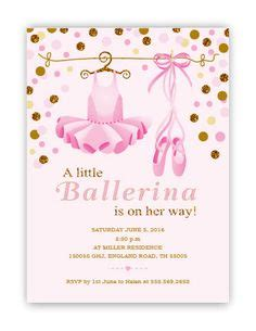 Pink Tutu Baby Shower Invitation Glitter And Gold Ballerina And Diy Diaper Invitation Template Ballerina Baby Shower Invitation Templates