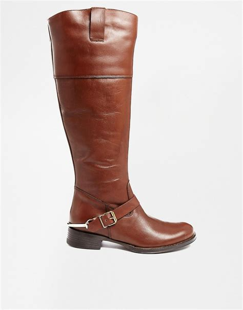 aldo aldo lacinova leather knee high boots at asos